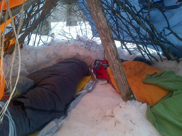 winter sleep system during winter camping