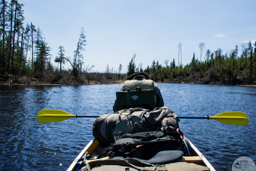 gregory deva backpack on a canoe trip
