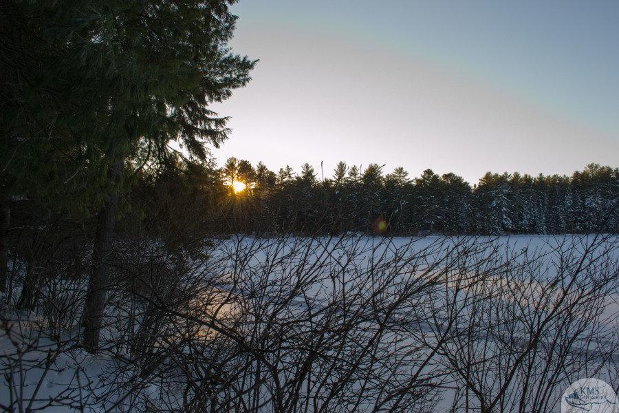 snowshoe adventures Mew Lake Campground winter camping