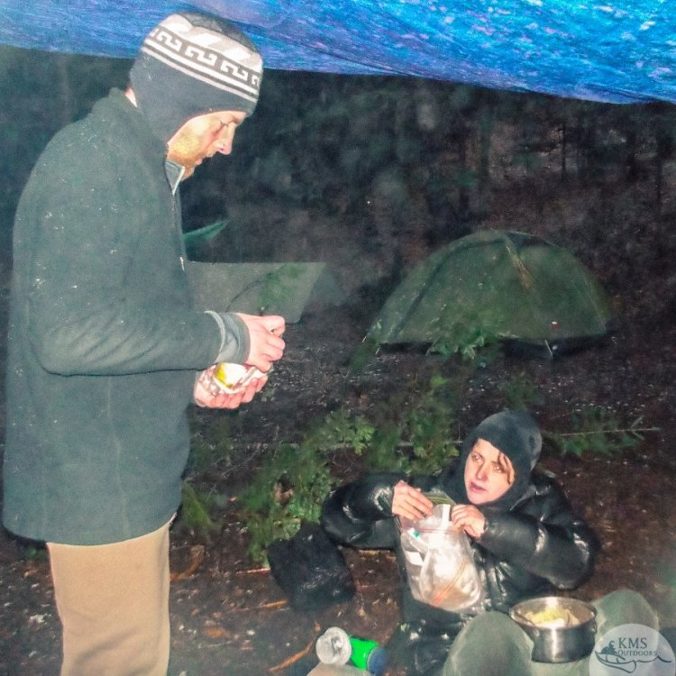 20121025 - day three chilly dinner Highland Backpacking Trail