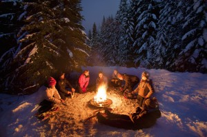 Outdoor family: Snowshoe & Bonfire by Mt Hood Adventure