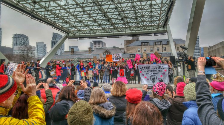 Women's March Toronto Nathan Philips Square