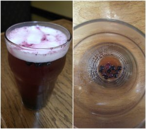 Blueberry beer in the Annapolis Valley